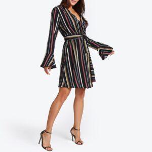 ropa en oferta Vestido vintage rayas