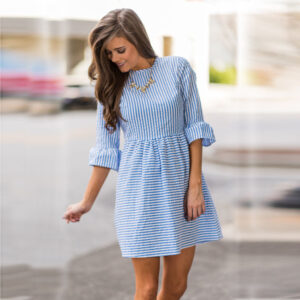 vestido de verano a rayas ropa en oferta